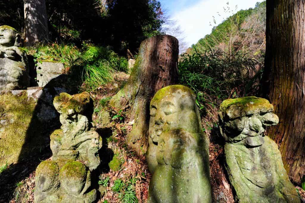 Esculturas em Otagi Nenbutsu-ji, Kyoto