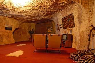 Habitação subterrânea em Coober Pedy, sul da Austrália
