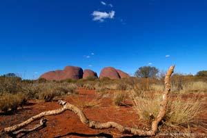 Vista do monte Olgas, outback, Austrália