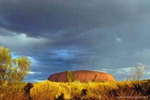 Entardecer em Uluru (Ayers Rock), Austrália