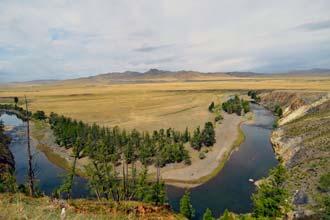 A caminho do Vale de Orkhon, na Mongólia central