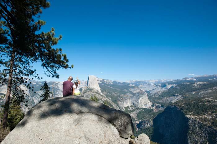 Resa med barn i Yosemite