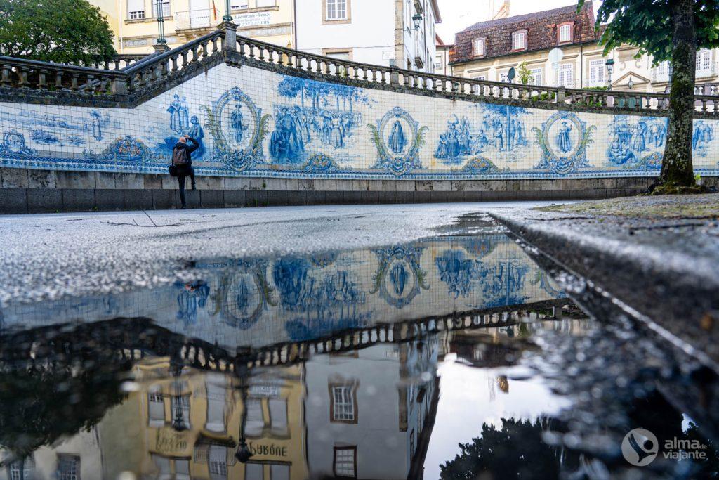 O que ver em Viseu: Painel de Azulejos de Joaquim Lopes