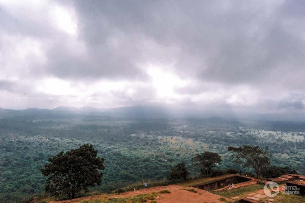 Paisagem em Sigiriya
