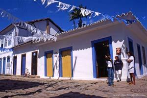 Casario colonial em Paraty, Brasil