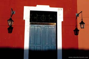 Pormenor de uma fachada do centro da Parnaíba