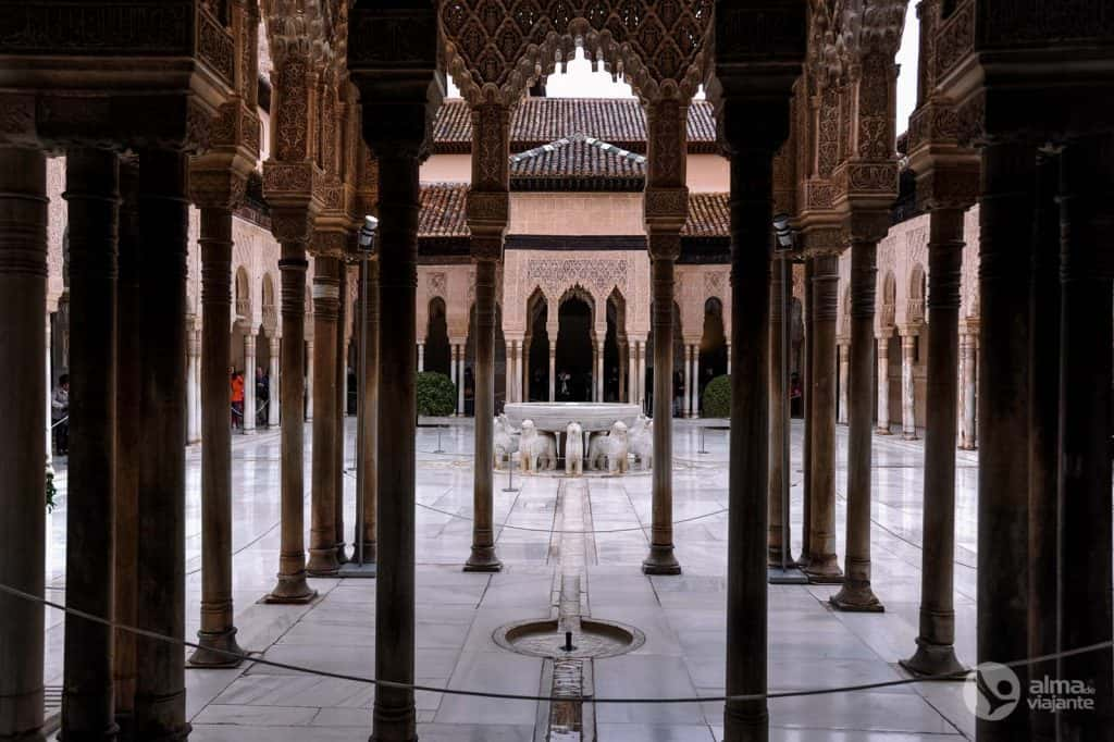 Visitar Alhambra: Pátio dos Leões