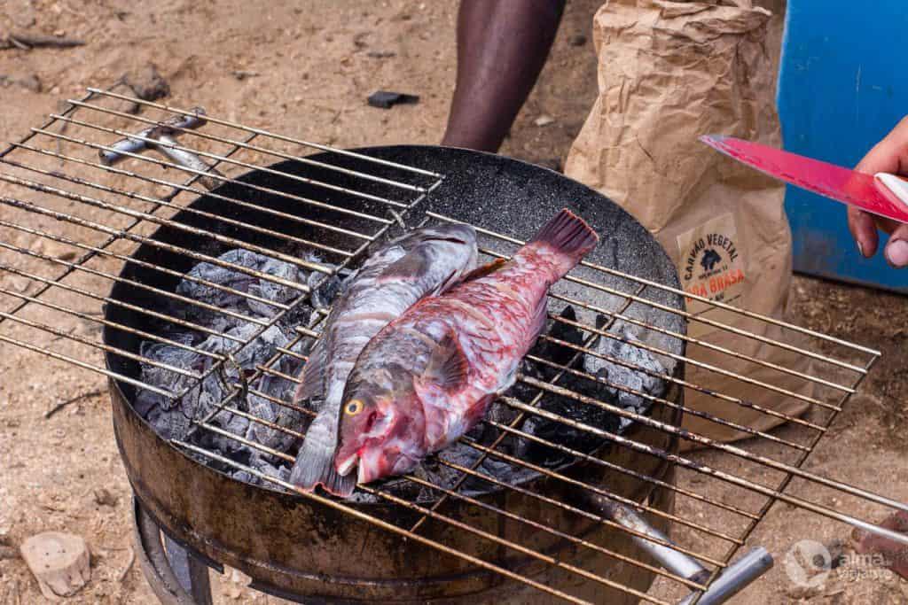 Peixe grelhado em Cabo Verde