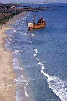 Praia na península do Peloponeso, Grécia