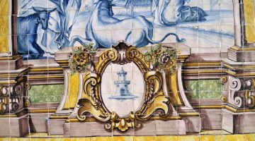 Portugese azulejo's in de Nossa Senhora das Correntes-kerk, Penedo