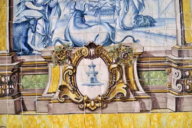Azulejos portugueses na Igreja Nossa Senhora das Correntes, Penedo