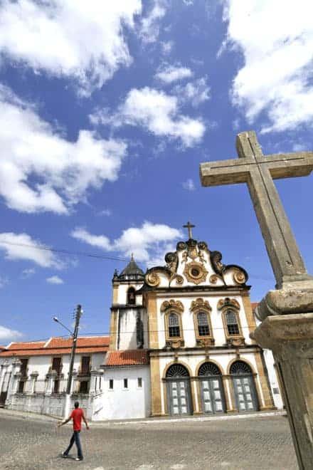 Uma das muitas igrejas de Penedo, a mais emblemática cidade histórica de Alagoas