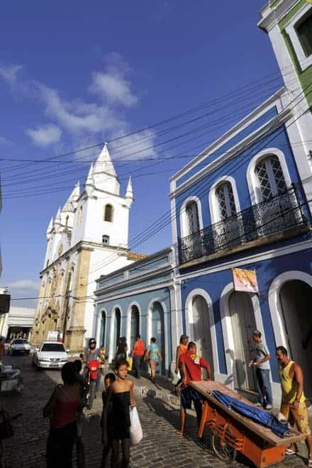 Rua no centro de Penedo, Alagoas - Brasil