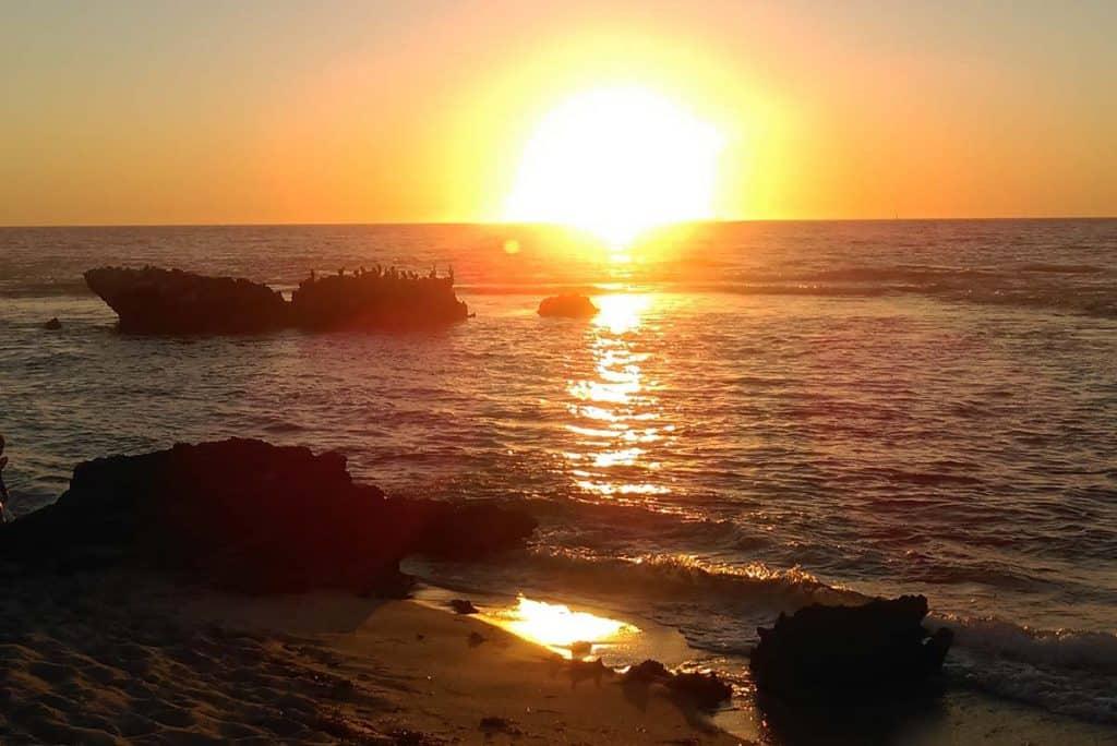 Pôr-do-sol em Perth