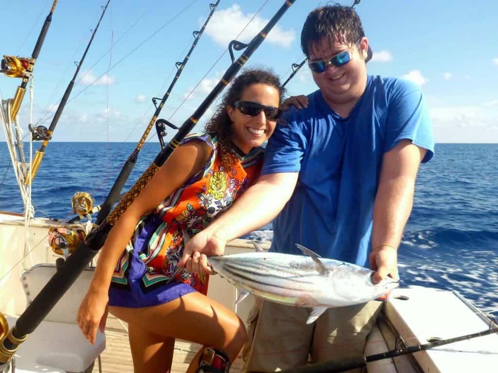 Pescaria no mar das Caraíbas
