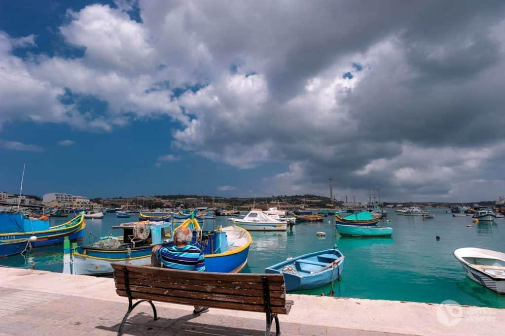 Pescador em Marsaxlokk, Malta