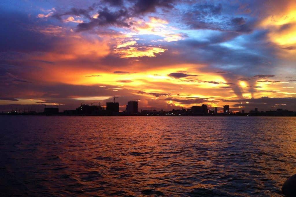 Por do sol no Rio Mekong, Phnom Penh