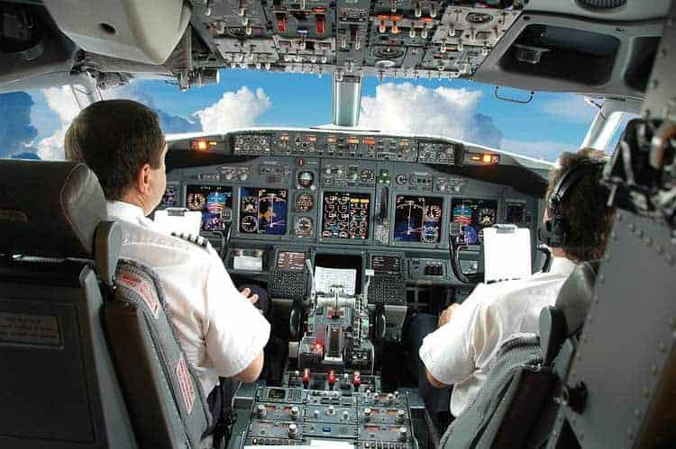 Pilotos no cockpiti