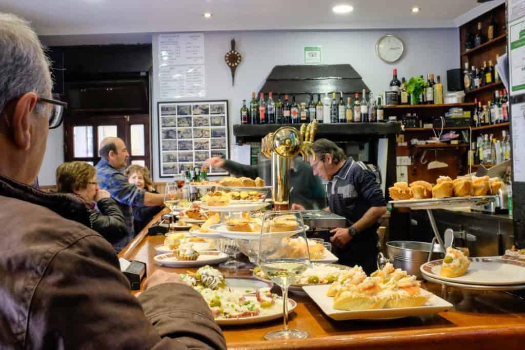 Bar de pintxos de San Sebastián