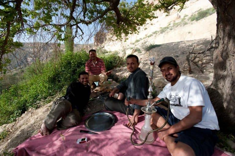 Piquenique em Dana, Jordânia