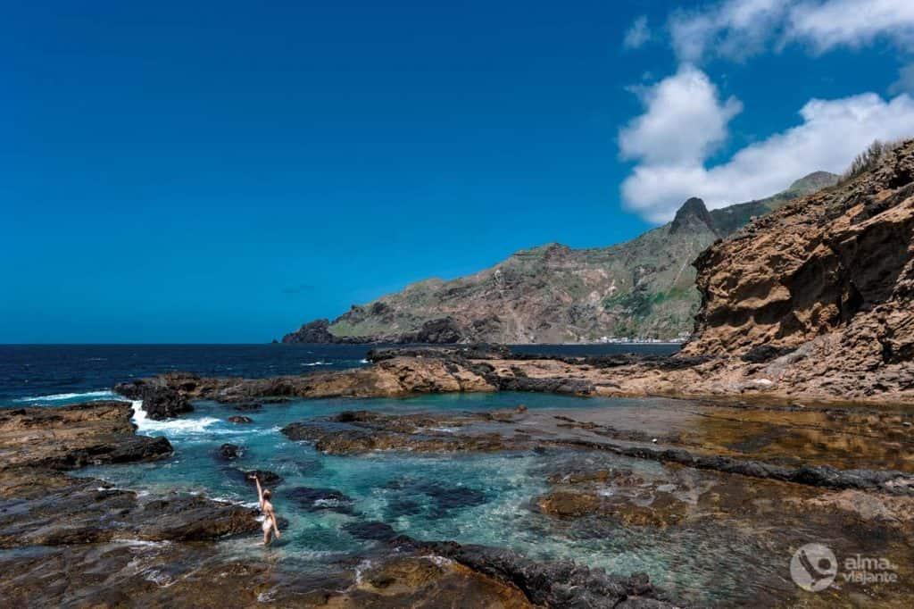 Piscinas naturais da Fajã da Água, ilha Brava