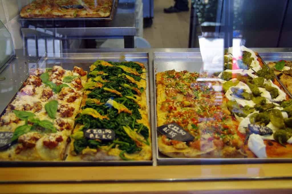 Gourmet pizzur eftir Gabriele Bonci