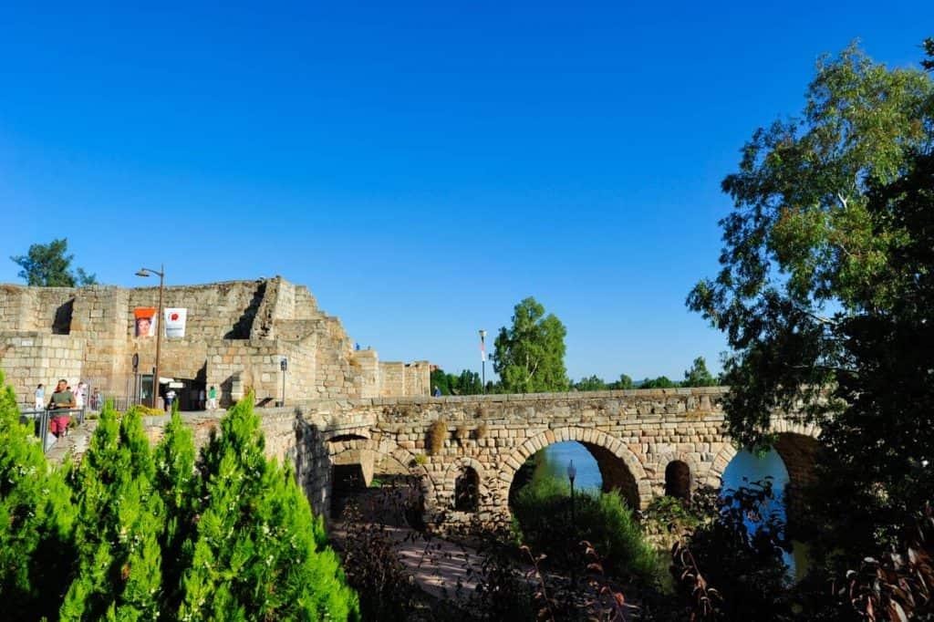 Ponte romana sobre o Guadiana