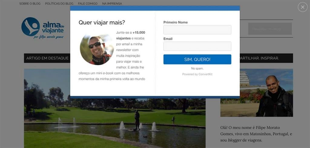 E-mail marketing: pop-up uitvoer