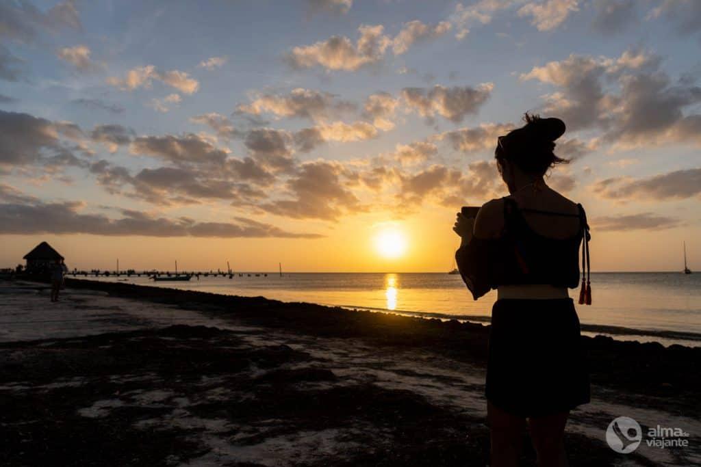 O que fazer em Holbox: ver o pôr-do-sol