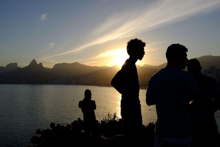 Arpoador: Pôr-do-sol no Rio de Janeiro