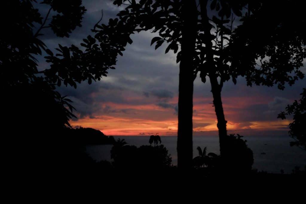 Pôr-do-sol em Drake Bay, Costa Rica