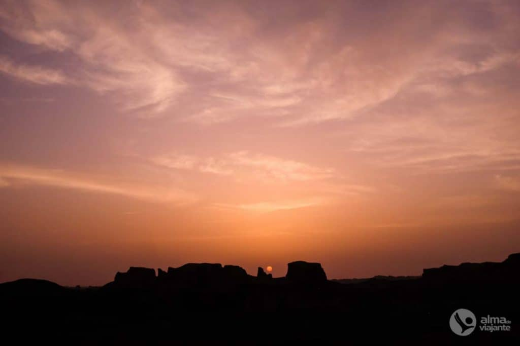 Päikeseloojang Iraanis Kaluts