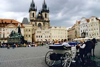 Praça da cidade antiga de Praga