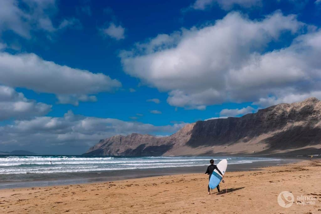 Labākās pludmales Lanzaroe: Famara