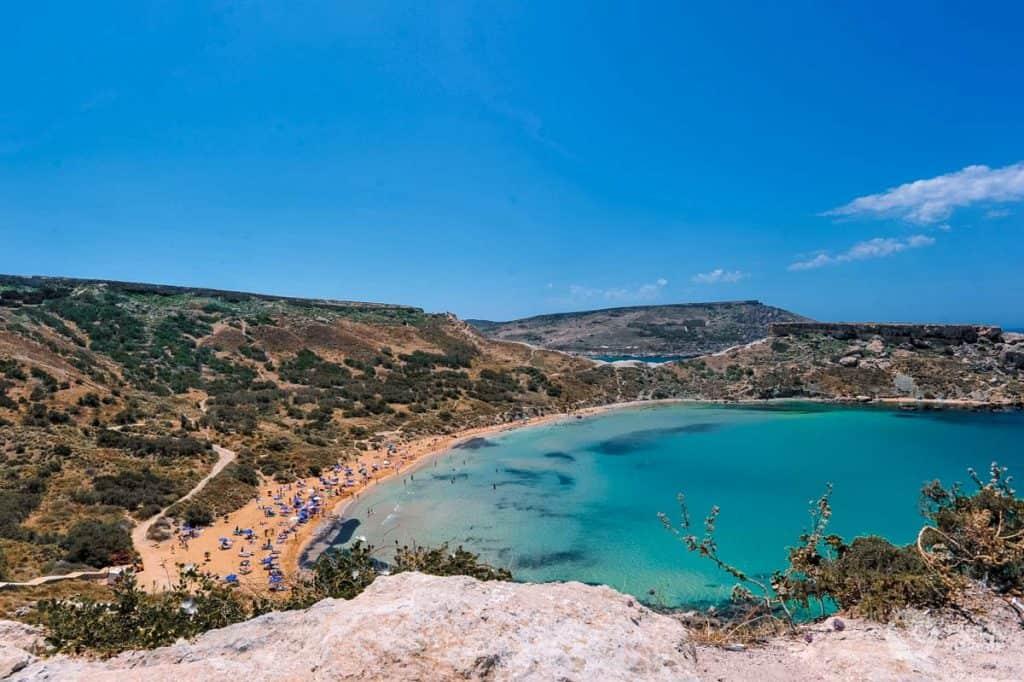 Għajn Tuffieħa Beach, Golden Bay, Malta
