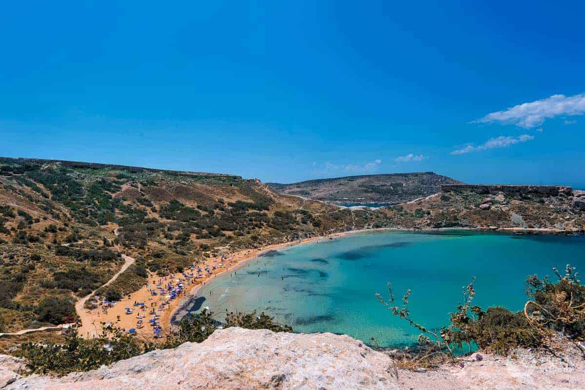 Praia Ghajn Tuffieha, Ilha de Malta