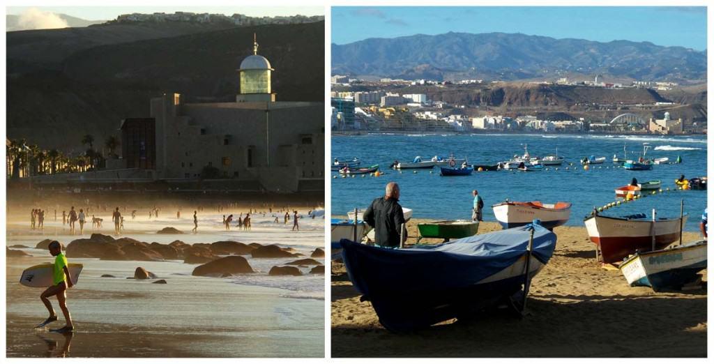 Visitar Grand Canaria: Praia Las Canteras, Las Palmas