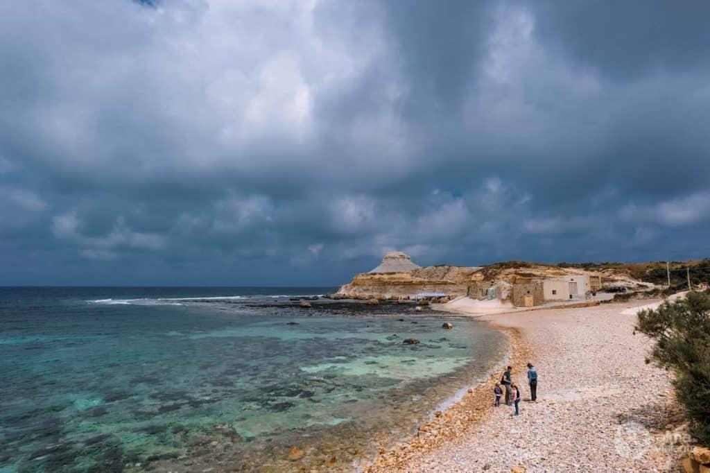 Pláž v Gozo