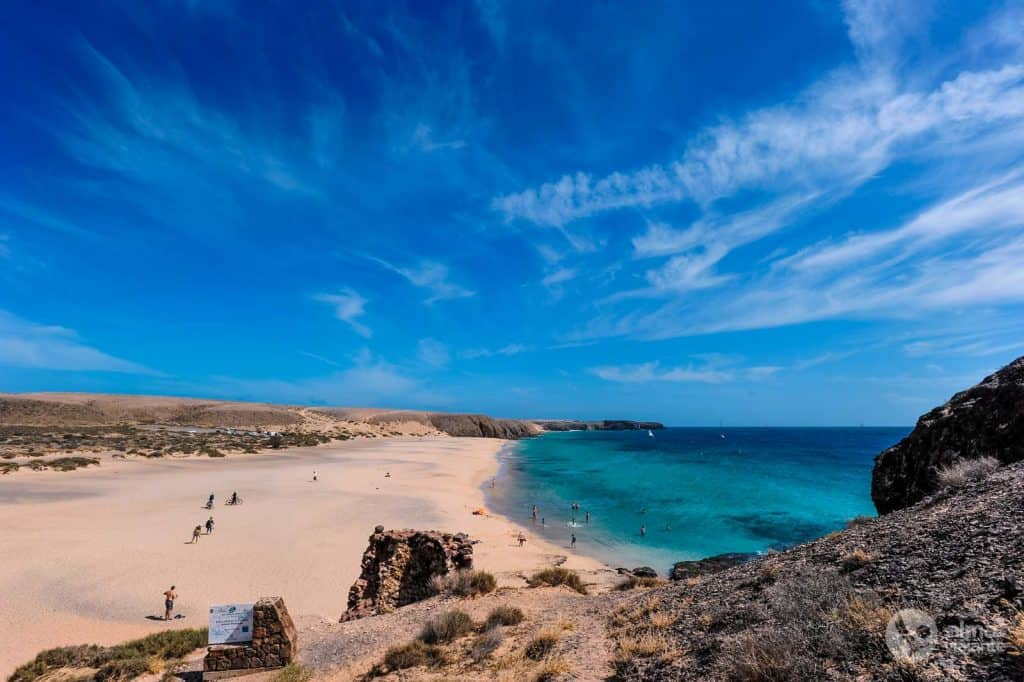 Labākās pludmales Lanzarotē: Playa Mujeres