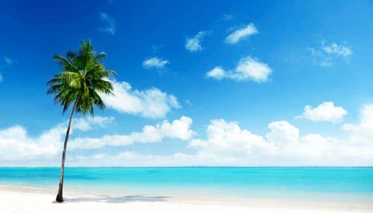 Praia na República Dominicana, Caraíbas