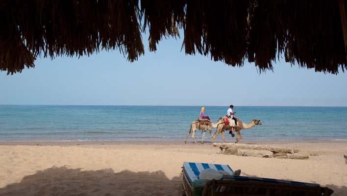Imprevistos de viagem levaram-me à Praia Tarabin, Nuweiba