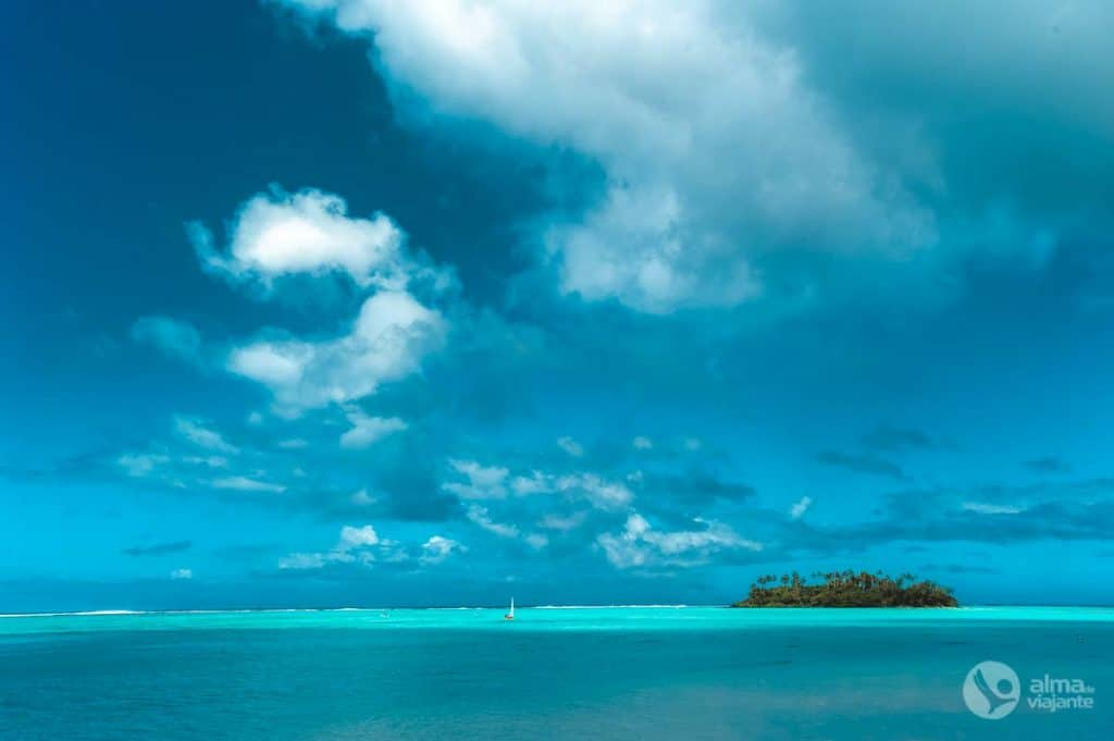 Praia em Rarotonga, Ilhas Cook