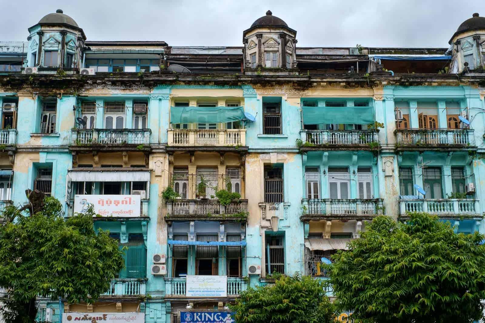 Prédios de Yangon