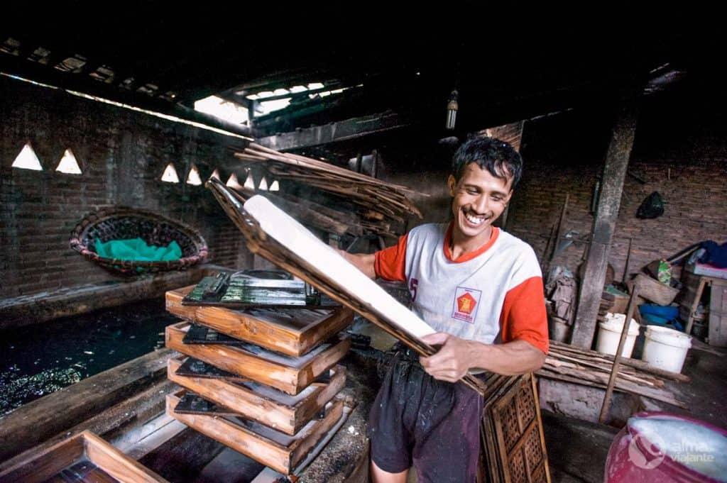 Produzir tofu, Borobudur