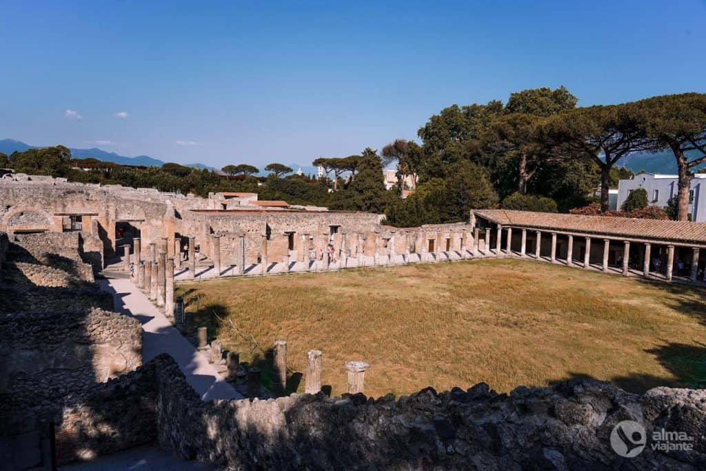 Visitar Pompeia: Quartel dos Gladiadores