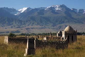 Antigo cemitério em At-Bashy