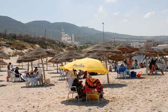Praia de Raf Raf, Tunísia