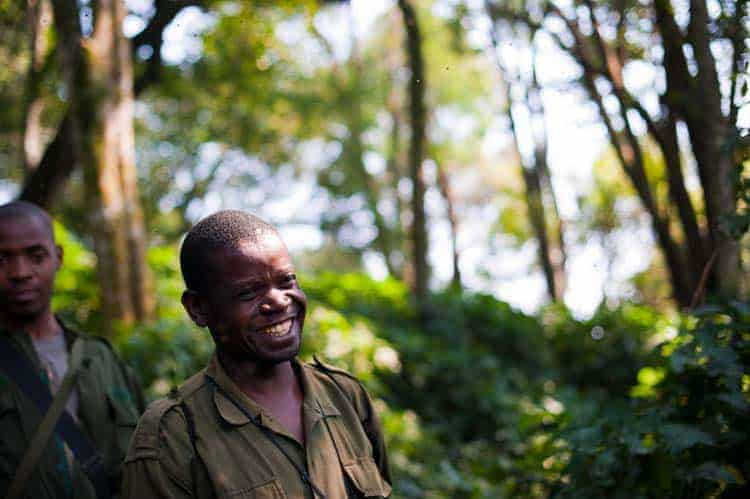 Rangers do Uganda Wildlife Authority, em Bwindi