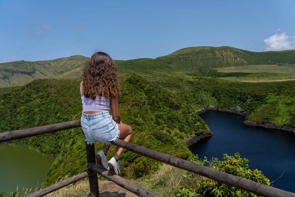 Miradouro das lagoas Negra e Comprida, Flores, Açores