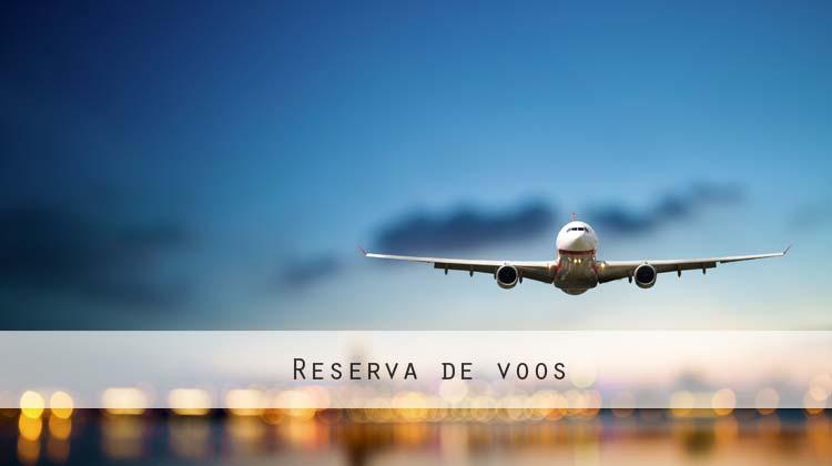 Reserva de voos - avião a aterrar